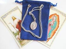 Our Lady of Guadalupe, Saint Medal w/ 24 Inch Necklace