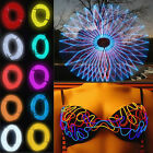 Flexible EL Wire Neon LED 1M/2M/3M/5M Car Light Party Rope Tube + controller