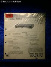 Sony Service Manual CDP 203 / 203ES CD Player (#0522)