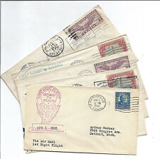 US FFC Cover Lot of 5 - CAM 4, CAM 33 + Night Flight GAM 30, TX CA TN - 1930*