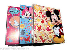 Disney Mickey Minnie Mouse 3 Ring Binders Blue Cream Pink Notebook Lot of 3