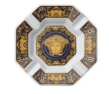 VERSACE MEDUSA ASHTRAY BLUE GORGONA GOLD ROSENTHAL NEW IN BOX VALENTINES SALE