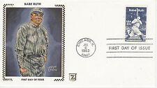 Z ZASO SILK CACHET FIRST DAY COVER FDC - 1983 BABE RUTH BAMBINO BASEBALL BR-19