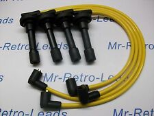 YELLOW 8MM PERFORMANCE IGNITION LEADS WILL FIT HONDA CIVIC D16 DOHC ENGINES HT.