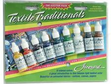 Jacquard Textile Colors set of 9 colours of fabric paint