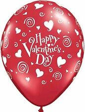 """""""Happy Valentines Day"""" Swirling Hearts Latex Balloons 2 for $1.50"""