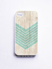 iPhone 4/ 4S Case- Wood Geometric Aquamarine