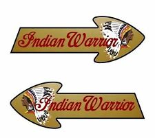 """2 WARRIOR 8"""" Indian Motorcycle Tank Vinyl Graphic Decals for Gas Tank or Trailer"""