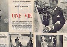 Coupure de presse Clipping 1957 Maria Schell  (6 pages)