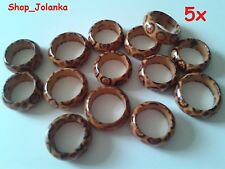 5 x Holzringe wood rings - verschiedene Größen different sizes Nr. 4