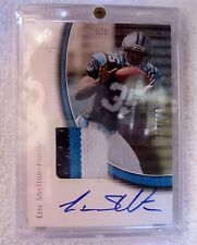 Eric Shelton RC 2005 UD SP Authentic 3-Color Jersey Patch Auto#/899-Panthers RB