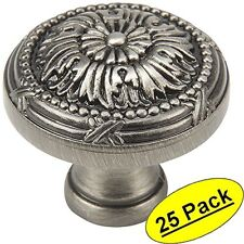 *25 Pack* Cosmas Antique Silver Round Cabinet Knobs #9460AS