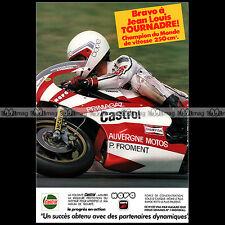 ★ JEAN-LOUIS TOURNADRE & Castrol 1982 ★ Pub PILOTE MOTO Publicité Advert #A246