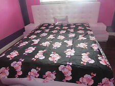 VICTORIA'S SECRET!PINK!! FLORAL PRINT DUVET COVER BEDDING DORM TWIN