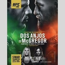 UFC 196 DOS ANJOS VS CONOR MCGREGOR + HOLLY HOLM VS MIESHA TATE  22 X 28 POSTER