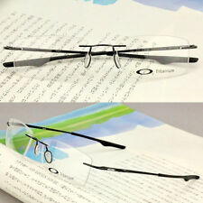 New Eyeglasses Eyewear RX Titanium Frames Light Keel Rimless Black OX3122-0155