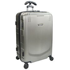 "Traveler's Choice Palencia Gray 26"" Medium Hardside Luggage Spinner Suitcase Bag"