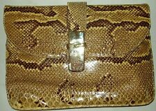VINTAGE SUSAN GAIL GENUINE Snake Skin Shoulder Bag / Clutch - MADE IN SPAIN