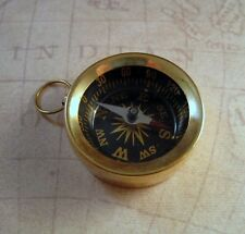 Large Brass Compass Charm (1) - L548 Jewelry Finding