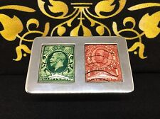 Silver And Enamel Double Stamp Box