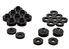 Energy Suspension 1976-1979 JEEP CJ5 / CJ7 Body (Cab) Mount Bushings Kit (Black)