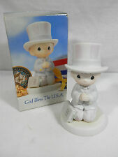 "Precious Moments by Enesco, 527564, ""God Bless the U.S.A.""  Vessel  - 1991"