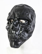 LATEX MASK MASCHERA NERO TESCHIO HALLOWEEN FANCY DRESS COSTUME SCHELETRO adulto Prop