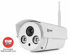 FDT 720P HD WiFi Bullet IP Camera (1.0 Megapixel) w/ 16GB SD Card outdoor Camera