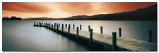 "Coniston Water Jetty Lake Art Large Wall Silk Poster 24x75"" Scenery Nature 001"