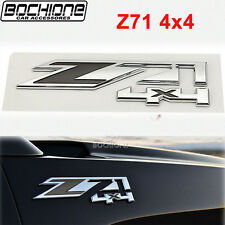 For Chevrolet Silverado/ GMC Sierra ABS Plastic Z71 Logo 4x4 Emblem Badge Chrome