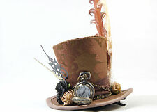 Steampunk Mini-Hut Brokat Vintage Taschenuhr Zeitreise Gothic Fascinator Hat