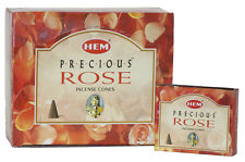 HEM PRECIOUS ROSE INCENSE CONES ( 12 PACKS X 10 CONES) = 120 CONES - 0384