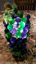 VINTAGE Mid Century Modern Lucite Grape Cluster Portable Light Lamp Swag w/Chain