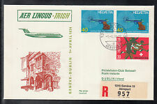 A 110 ) beautiful FFC AER LINGUS IRISH First Flight 1974 Geneva to Dublin