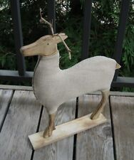 Reindeer STATUE*Primitive/French Country Farmhouse/Fall/Christmas Mantel Decor