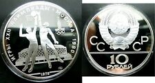 1979 Russia/USSR Large Silver 1 OZ Proof 10 Roubles Moscow Olympics Basketball