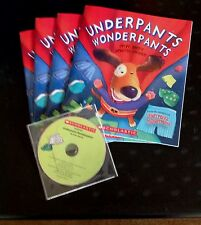 Underpants Wonderpants P. Bently New Scholastic Listening Center 4 Books with CD
