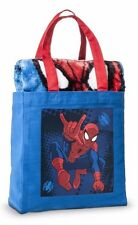 "Marvel Spider-Man 40"" x 50"" THROW BLANKET-in-a-Bag & TOTE SET BOYS BLUE NWT"