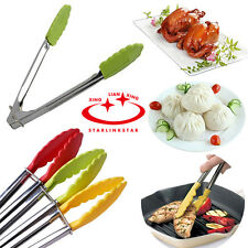 NEW Stainless Steel BBQ Barbecue Buffet Food Tongs Kitchen Clamp Serving Utensil