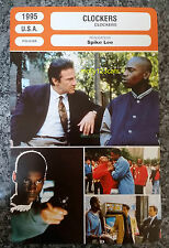US Spike Lee crime drama Movie Clockers Harvey Keitel French Film Trade Card