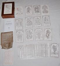 The Mythical Creatures Tarot Deck Cards LE Signed Karen Mahony Monochrome OOP