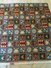Debbie Mumm for SSI Camping Duck Ducks Geese Boat Oars Cabin in Squares Fabric