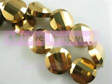 Lots 12/14/18mm Charms Surface Button Faceted Crystal Glass Loose Spacer Beads