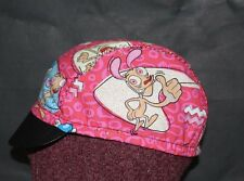 Cycling cap REN & STIMPY one size 100% COTTON handmade in USA