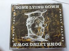 Family Values Import by Done Lying Down CD