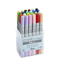 COPIC CIAO MARKER - 24 STARTER COLOUR SET - TWIN TIPPED - 24 UNIQUE COLOURS