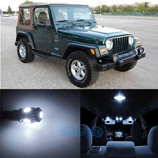 4x Xenon White LED Lights Interior Package Kit For Jeep Wrangler TJ 2000-2006 WK