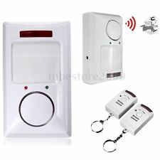 Wireless Infrared Motion Sensor Alarm Security Home Door System 2 Remote Control