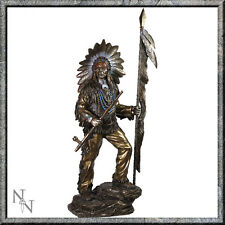 INDIAN PEACEFULL AMERICAN CHIEF WITH STAFF LANCE RESIN NEMESIS NOW