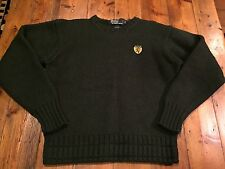 RALPH LAUREN Men's Vintage Green Cotton Ski Wool Sweater-  Size Medium- Ret $175